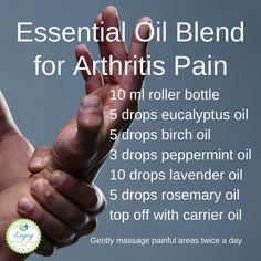 Best Essential Oils for Arthritis - 5 Best Essential Oils for Arthritis Pain & Inflammation (+ Pain Relief Recipes) - Enjoy Natural Health Arthritis Pain Relief, Rheumatoid Arthritis Symptoms, Arthritis Remedies, Essential Oils Rheumatoid Arthritis, Herbal Remedies, Natural Remedies, Cold Remedies, Arthritis