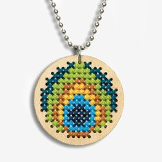 Dimensions Crafts® | Peacock Pendant Counted Cross Stitch Kit