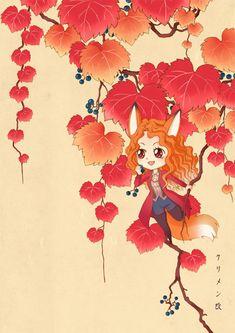 Fox and Red Ivy by https://klimene.deviantart.com on @DeviantArt