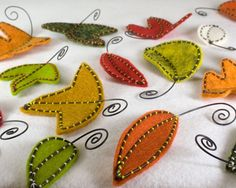 felt and wire leaves