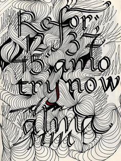 Leaf Calligraphy - Yomar Augusto