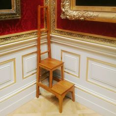 Step ladder, Wallace Collection, August 2016.
