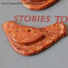 One Bird Bead in Pottery by CapturedMoments on Etsy, $3.75