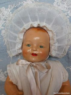Adorable Baby Dimples de Horsman Dolls 1928, el más risueño, todo original Antique Dolls, Disney Characters, Fictional Characters, Disney Princess, Antiques, Art, Arms, Caps Hats, The Originals
