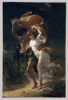 """""""The Storm"""" (1880) von Pierre Auguste Cot (geboren am 17. Februar 1837 in Bédarieux, gestorben am 2. August 1883 in Paris), französischer Maler."""