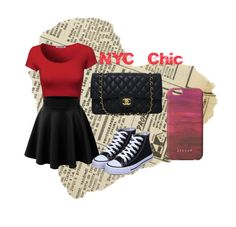 """""""NYC Chic"""" by rachael20013 ❤ liked on Polyvore featuring Chanel, Jigsaw and NYC"""