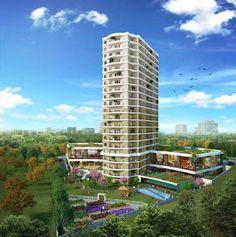 Данный проект располагается на площади 6839 м2 из них 3500  м2 зеленые зоны. Высота самого здания 22 этажа, проект состоит из квартир площадью 121 м2 и 171 м2. Из них 37 квартир (2+1)- 37 квартир, (3+1). В проекте имеется: парк, открытая и закрытая парковка, торговый центр, круглосуточная охрана(камеры), ресепшн, консьерж, сауна, кафе-ресторан, игровой центр, баня, закрытый бассейн, фитнес центр, прогулочные дорожки. Адрес: Стамбул - Авджилар