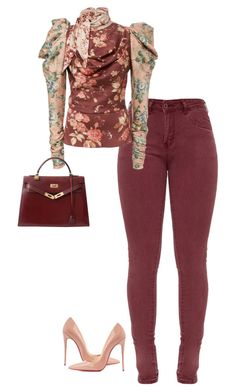 """Untitled #398"" by sb187 ❤ liked on Polyvore featuring Christian Louboutin and Hermès"