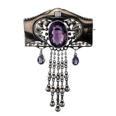 THEODORE FAHRNER Amethyst Brooch | From a unique collection of vintage brooches