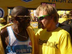 Petros Sosibo with Manager, Craig Fry, Comrades 2012 A Way Of Life, Marathons, Athletes, Running, T Shirt, Women, Fashion, Racing, Moda