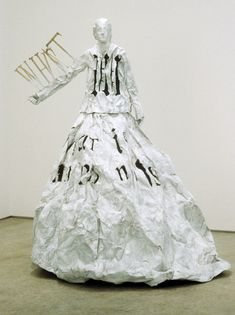 Dress of Inwardness  Lesley Dill    2006    White painted bronze    60 x 46 x 47 in