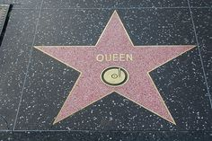 Queen's star on the Hollywood Walk of Fame.