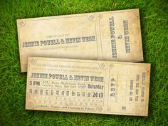 Wedding Invitation and RSVP Card Suite by VintageBellsAndCo, $1.90