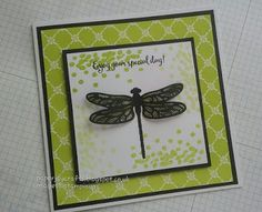 PaperJay Crafts: Dragonfly Dreams with Lemon Lime Twist Thank U Cards, Dragon Dreaming, Picture Frame Crafts, Alcohol Ink Crafts, Vase Crafts, Easy Cards, Popular Crafts, Family Birthdays, Dragon Flies