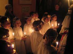 Santa Lucia day at the Chicago Waldorf School St Lucia Day, Sankta Lucia, Waldorf Education, Winter Light, Photo Illustration, Santa, School, Festivals, Celebrations