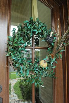 Less-Than-Perfect Life of Bliss: Another 5-Minute Fall Wreath Switch-Up!
