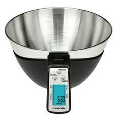 KALORIK Black/Stainless Steel Kitchen Scale