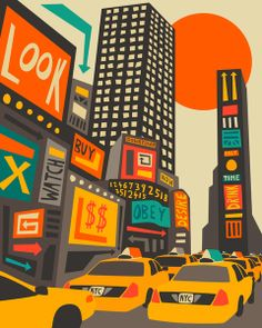 Iconic NYC cabs lined up and ready to take you around the city
