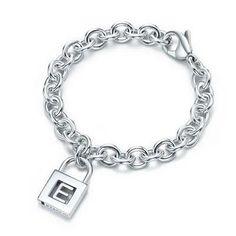 Tiffany Letter Tiffany E Charm Bracelet