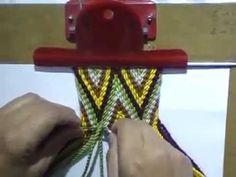 Ply Split Gasa wayuu ww -part 2 Tablet Weaving, Hand Weaving, Inkle Loom, Loom Weaving, Crochet Diy, Thread Crochet, Crochet Handbags, Crochet Purses, Finger Weaving