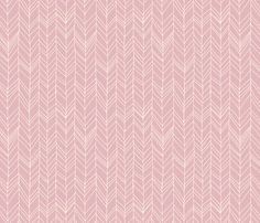 featherland (dusty pink) fabric by leanne on Spoonflower - custom fabric floor cushions......