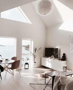 all white living room idea interior goals love Design Living Room, Living Room Interior, Living Room Decor, Living Spaces, Living Furniture, Art Furniture, Bedroom Decor, Living Room White, Home And Living