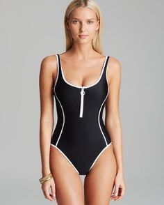9b2e1e64dbf Juicy Couture Black Label Juicy Couture Sport Pro Solids Zip Front Maillot One  Piece Swimsuit Women - Swimsuits   Cover-Ups - Bloomingdale s