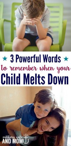 Does your child meltdown? Remember these three wor…
