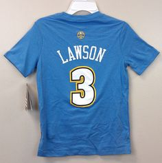 Now Just $17.99 !! Ty Lawson #3 adidas YOUTH T-Shirt Denver Nuggets Assorted Sizes NEW/NWT NBA #adidas #DenverNuggets