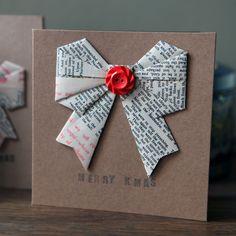 Christmas Card - Origami Bow