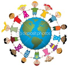 50 best children around the world images on pinterest around the rh pinterest com Travel around the World Clip Art Earth with People Holding Hands