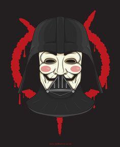 V for Vader by Neil Hanvey, via Behance