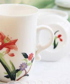 lotus flower bone china cup