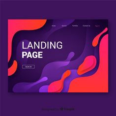 Liquid effect landing page Free Vector Web Design Trends, Graphic Design Tutorials, Design Design, Web Banner Design, Web Banners, Book Design, Page Design, Background Design Vector, App Design Inspiration