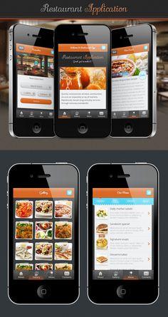 Restaurant Application by yukozlovskiy (via Creattica)