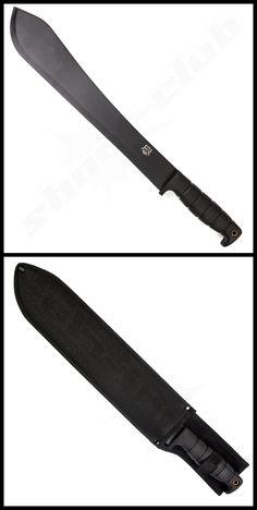MP9 Machete schwarz inklusive Nylonscheide aus 420er Stahl