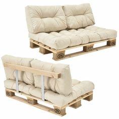 elegante Sofas aus Paletten bequeme Auflagen