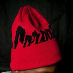 Corporate X Mitchell & Ness Beanie (Red/Black) $30