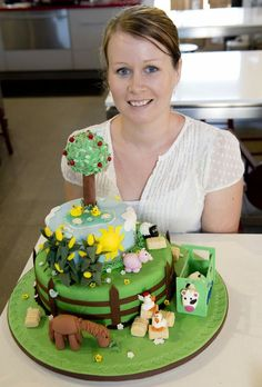 Image for sale: Enjoying the first meeting of Sauce Kitchen*s new Cake Club is Lisa Krahenbring with her Overall Reserve Champion and Beginner Contemporary cake * farmyard cake. Photo Nev Madsen / The Chronicle