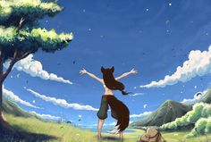 Wind embraces by Kate-FoX.deviantart.com on @DeviantArt