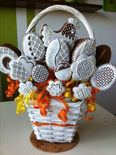 Velikonoční perníčky Easter Cookies, Easter Treats, Christmas Cookies, Royal Icing Cookies, Sugar Cookies, Cookie Baskets, Set Cookie, Fancy Desserts, Easter Recipes