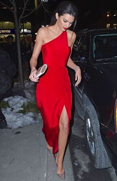 Kendall Jenner.: Little Red Dresses, dress, clothe, women's fashion, outfit inspiration, pretty clothes, shoes, bags and accessories #kendalljenneroutfits