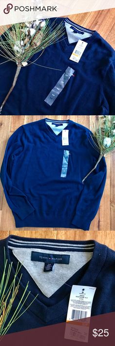 NWT Tommy Hilfiger blue V-neck sweater sz Small This royal blue v neck sweater from Tommy Hilfiger is a nice basic addition to any man's closet. It is brand NWT. Bundle with other items from my closet for the best deal! Tommy Hilfiger Sweaters V-Neck