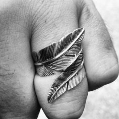 Gorgeous Sterling Silver feather ring from #barrenculture -$65