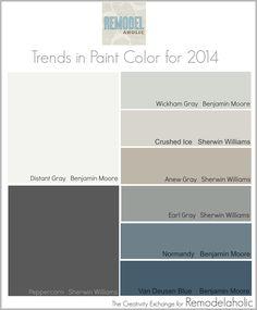color trnds for 2014 | Trends in Paint Color for 2014 {Remodelaholic} #paintpalette #trending ...