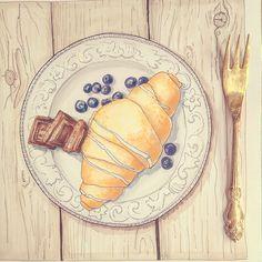 croissant sketch