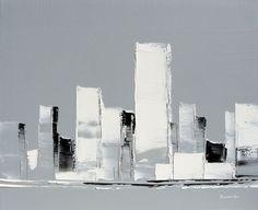 Buildings  | 46 x 38 cm | Huile sur toile