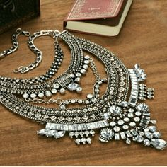 Silver Glass Crystal Tower Statement Necklace Large Silver Tone Crystal Tower Necklace  Comment Below If You'd Like To Be Notified When Gold Is Back In Stock         No Trades Price Firm ✈✈Ships Same Or Next Day✈✈ Jewelry Necklaces