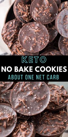 Chicken Parmesan Recipe Discover Keto No Bake Cookies - Maebells These fudgy Keto No Bake Cookies will remind you of classic no bake chocolate cookies without all the carbs! At just one net carb per cookie these sweet treats wont break your keto diet! Keto Cookies, No Bake Cookies, Coconut Cookies, Coconut Macaroons, Keto Friendly Desserts, Low Carb Desserts, Dessert Recipes, Dessert Healthy, No Carbs Dessert