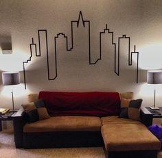 Create a City Skyline Wallart